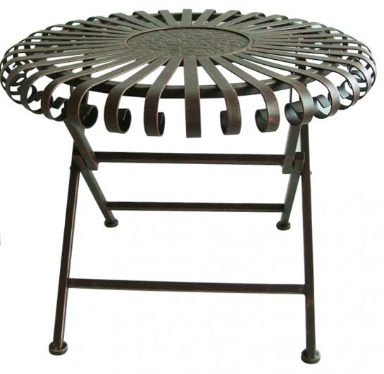 Gartentisch Metall Antik. Outdoor M Bel Gartentisch Renan