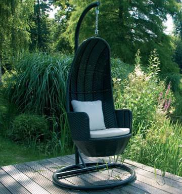 h ngeschaukel h nge schaukelstuhl h ngesessel garten ebay. Black Bedroom Furniture Sets. Home Design Ideas
