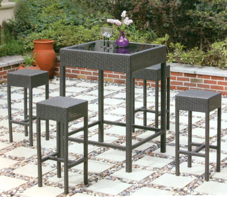 bar set stehtisch barstuhl barhocker garten rattan neu ebay. Black Bedroom Furniture Sets. Home Design Ideas