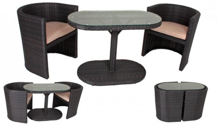 balkonset rattan. Black Bedroom Furniture Sets. Home Design Ideas