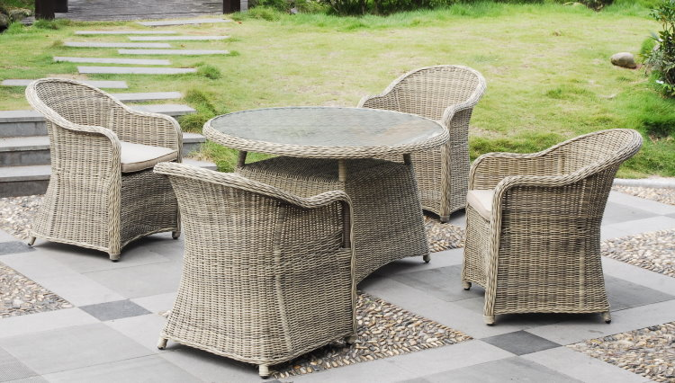 garden pleasure rattan sitzgruppe cordoba garten tisch sessel lounge braun ebay. Black Bedroom Furniture Sets. Home Design Ideas