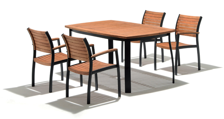 garten tischgruppe sitzgruppe tisch 4x stuhl holz alu ebay. Black Bedroom Furniture Sets. Home Design Ideas