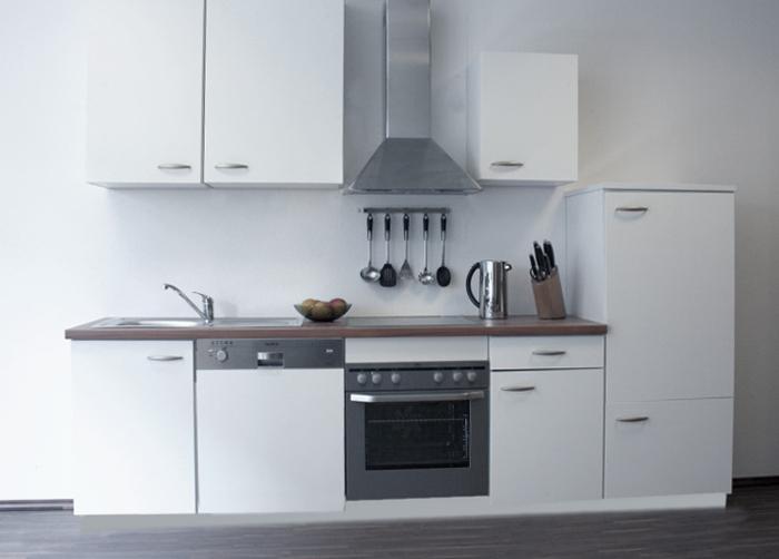 quelle k chenzeile kompaktk che k che k chenblock weiss neu ebay. Black Bedroom Furniture Sets. Home Design Ideas