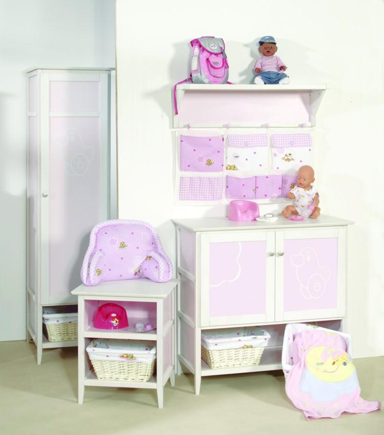 roba kleiderschrank 181x51cm kinderzimmer m dchen schrank rosa wei baby born ebay. Black Bedroom Furniture Sets. Home Design Ideas