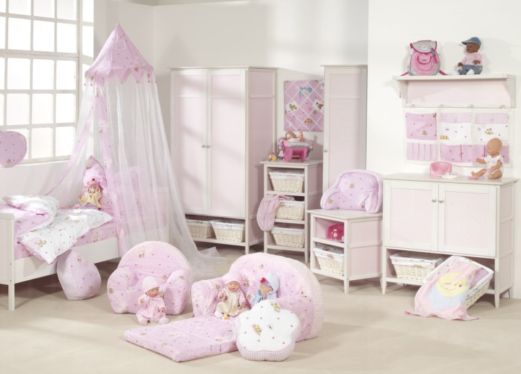 neu roba kleiderschrank baby born kinderzimmer schrank in rosa wei ebay. Black Bedroom Furniture Sets. Home Design Ideas