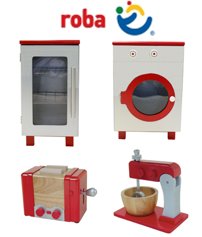 Roba Wooden Play Kitchen Kitchen Washing Machine Fridge