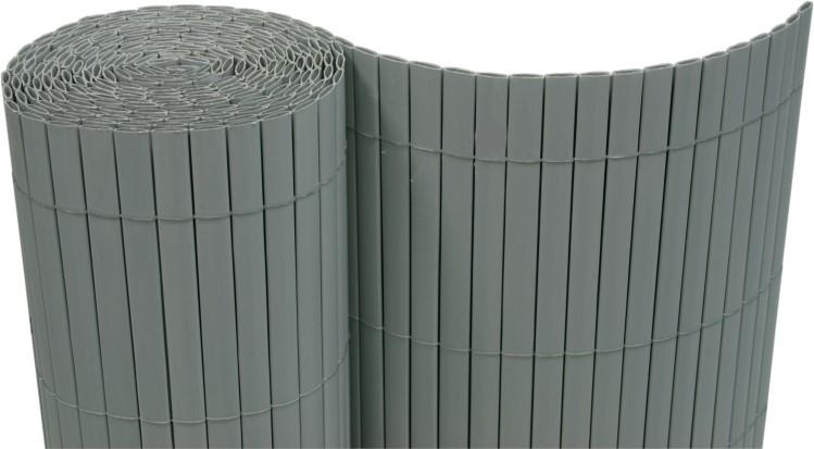 pvc sichtschutzmatte balkon windschutz kunststoff garten sichtschutz zaun grau ebay. Black Bedroom Furniture Sets. Home Design Ideas