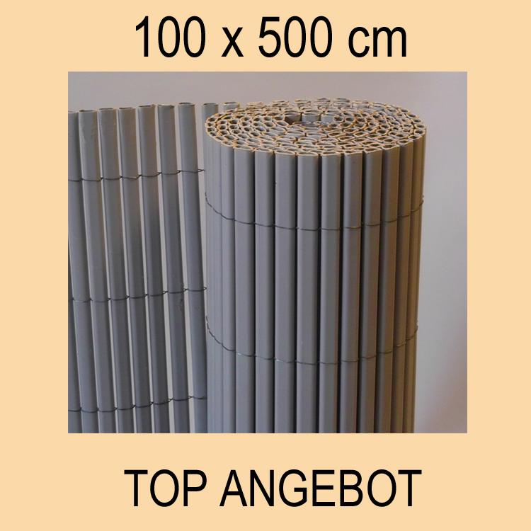 pvc sichtschutzmatte balkon sichtschutz 100x500 neu ebay. Black Bedroom Furniture Sets. Home Design Ideas