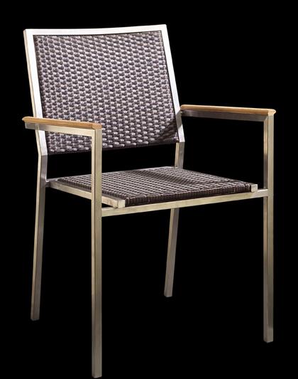 gartenstuhl stapelstuhl garten sessel edelstahl rattan ebay. Black Bedroom Furniture Sets. Home Design Ideas