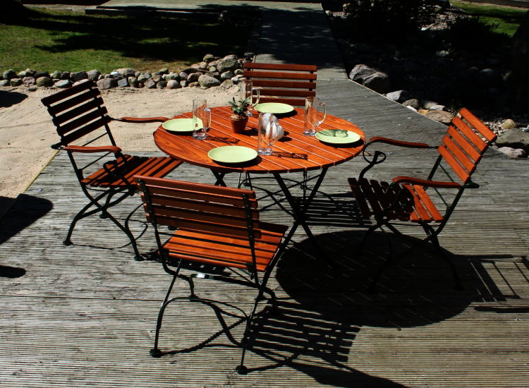 Biergarten Sitzgruppe Adria Gastronomie Möbel Tisch Stuhl Sessel