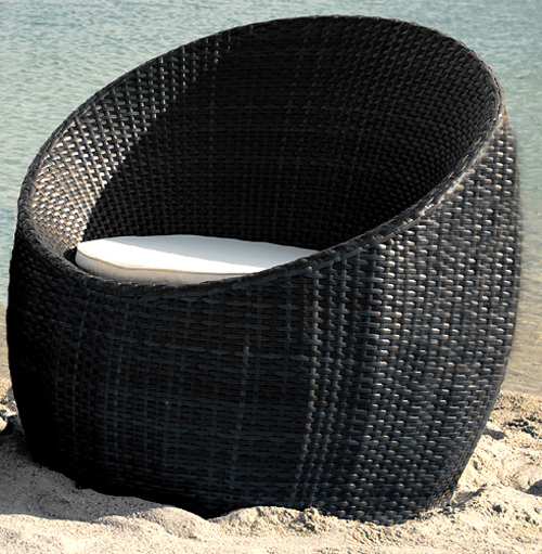rattan sessel gartenm bel garten m bel muschel schwarz ebay. Black Bedroom Furniture Sets. Home Design Ideas