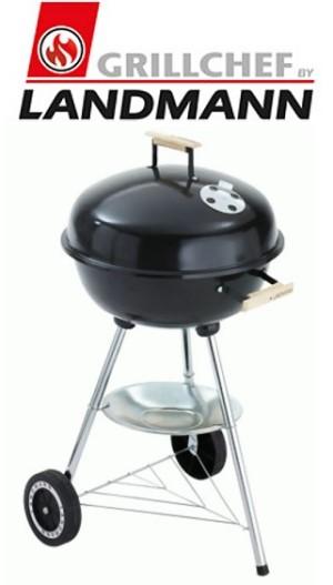 grillchef by landmann kugelgrill grill holzkohlegrill emaillierte feuerschale ebay. Black Bedroom Furniture Sets. Home Design Ideas