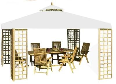 belardo by landmann gartenpavillon pavillon 3x4m teak holz partyzelt ebay. Black Bedroom Furniture Sets. Home Design Ideas