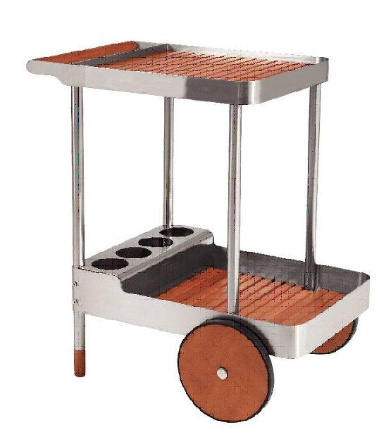 belardo by landmann edelstahl holz servierwagen k chenwagen grillwagen bar tisch ebay. Black Bedroom Furniture Sets. Home Design Ideas