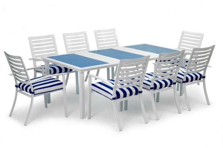17 tlg garvida by landmann alu sitzgruppe garten tisch stuhl sessel gartenm bel ebay. Black Bedroom Furniture Sets. Home Design Ideas