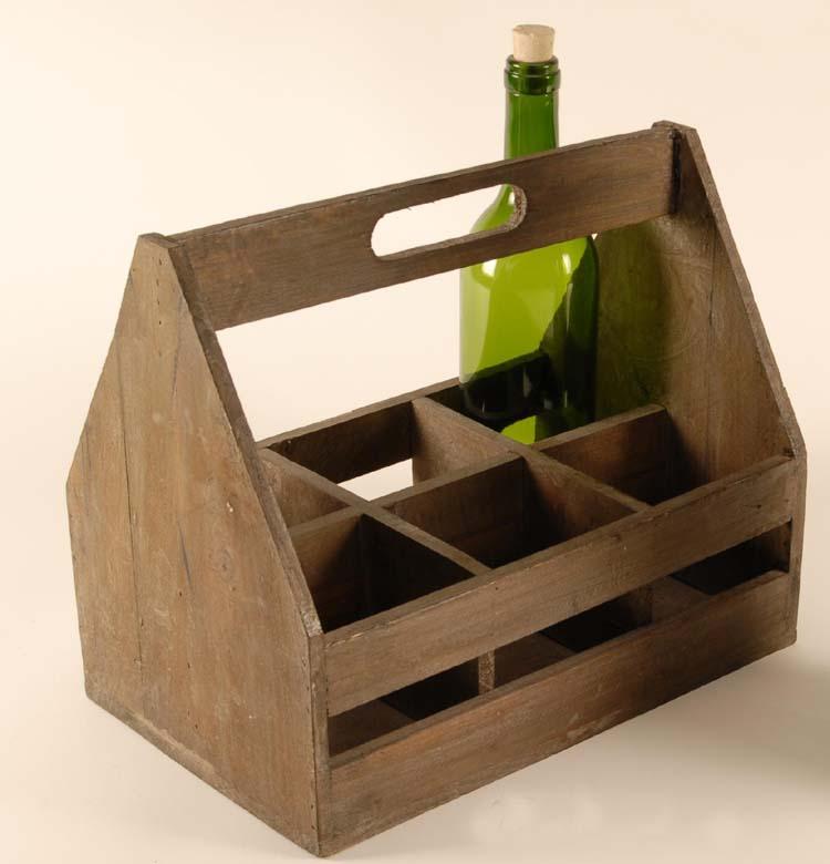 holz weinkorb flaschentr ger flaschenhalter flaschenkorb weinkiste f 6 flaschen ebay. Black Bedroom Furniture Sets. Home Design Ideas